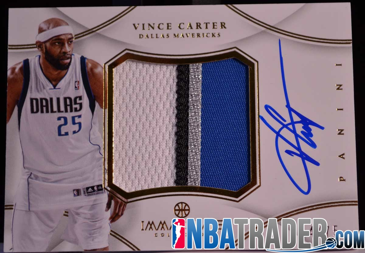 new product 81947 e3c1a Vince Carter 2012-13 Immaculate Jumbo Patch Autograph #/75 ...