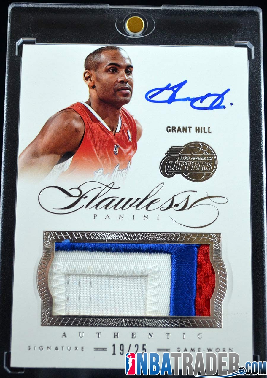 Grant Hill 2012 13 Panini Flawless Patches Autographs Prime