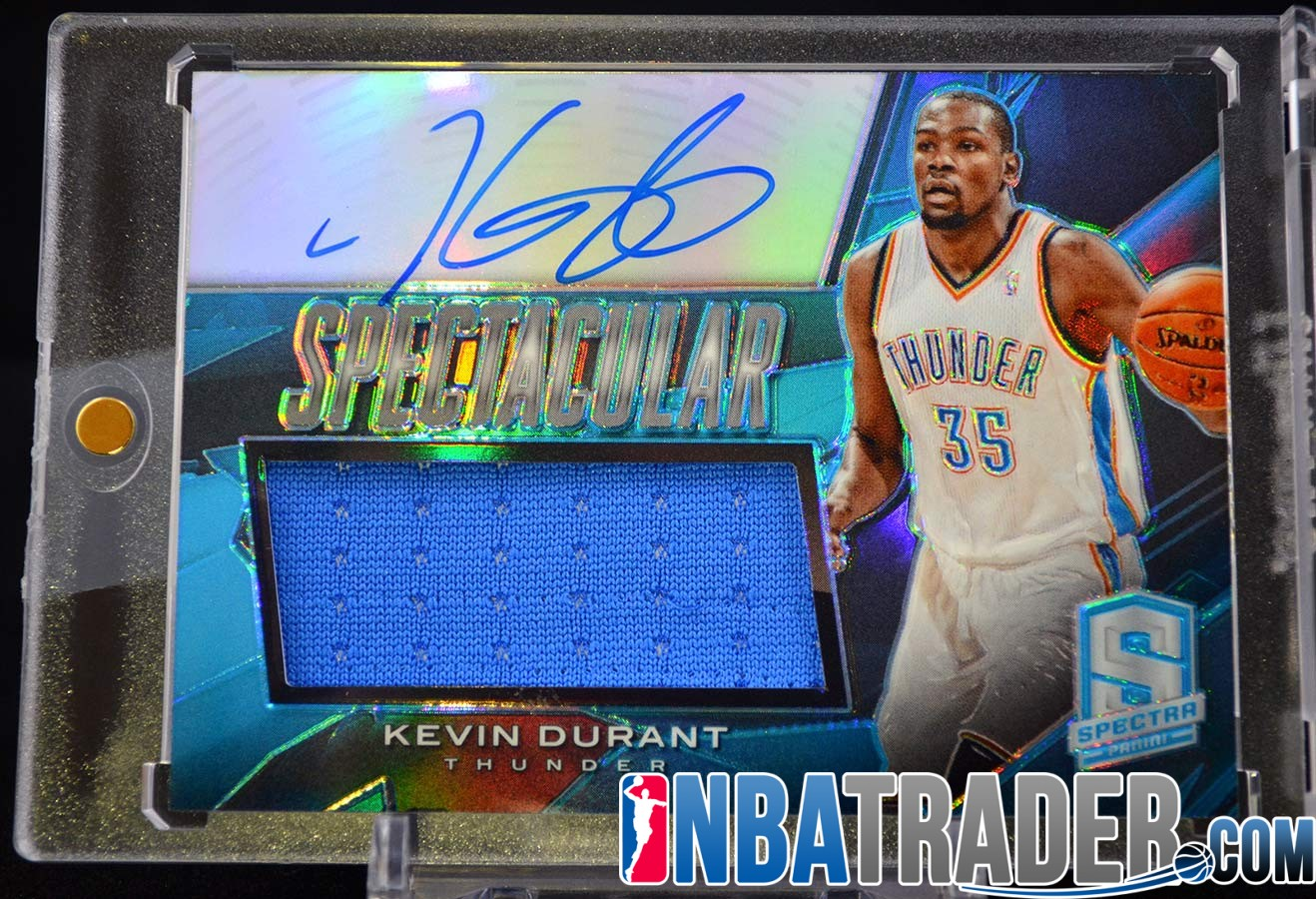 b2b3ab3e Kevin Durant 2013-14 Panini Spectra Spectacular Swatch Signatures ...