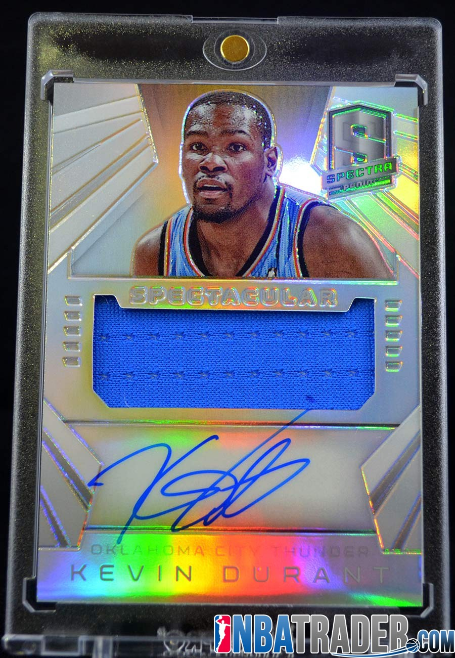 b1dd46e4 Kevin Durant Spectra Spectacular Prizm Jersey Autograph #/35 - NBA ...