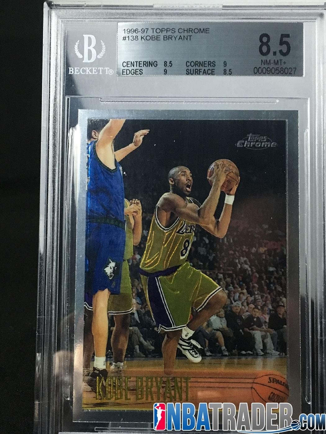 Kobe Bryant 1996 Chrome Rookie Rc Graded Bgs 85 Nba Trader